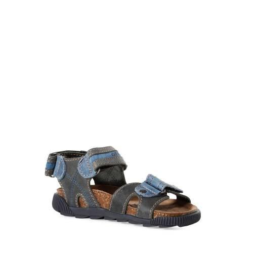 Sandale baieti Geox Storm bleumarin/gri