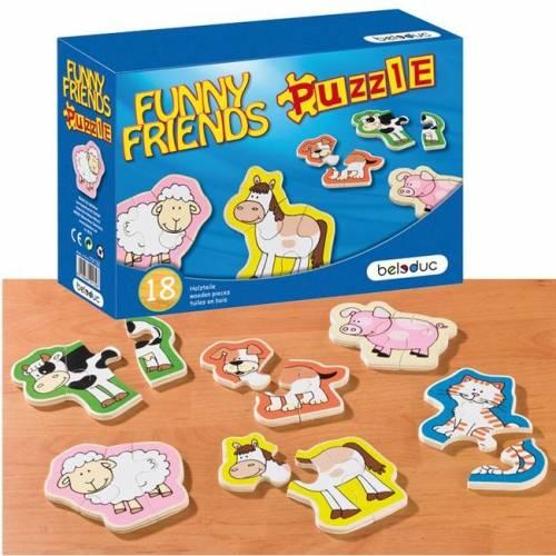 Puzzle lemn Animale Prietenoase Beleduc