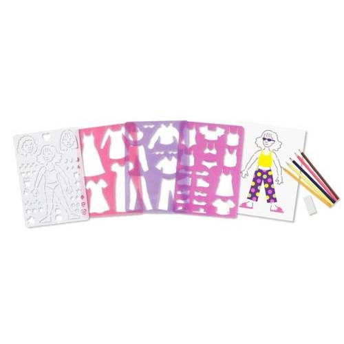 Set de sabloane Parada de moda Melissa and Doug
