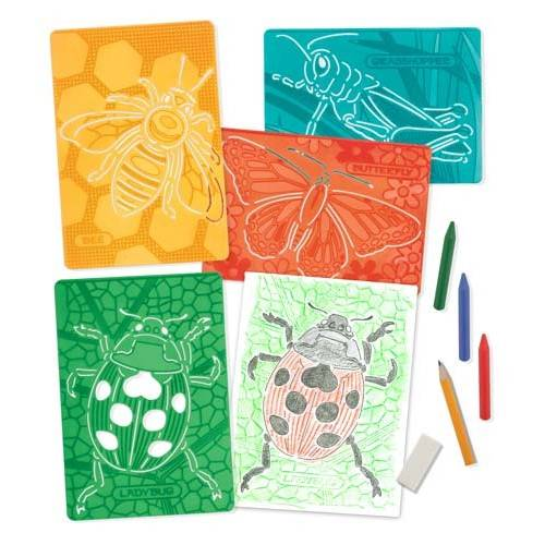 Set de sabloane texturate Insecte Melissa and Doug