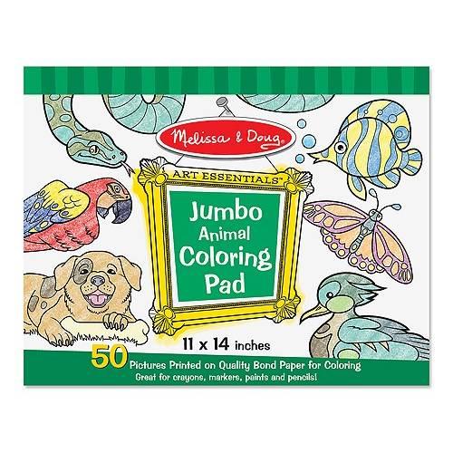 Caiet jumbo cu planse pentru colorat Animale Melissa and Doug