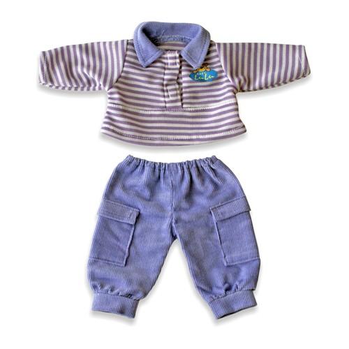 Set pantaloni si bluza polo pentru papusi Miniland 21 cm