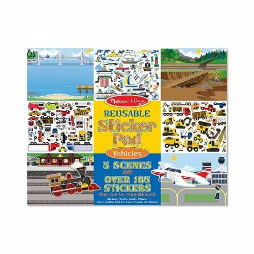 Abtibilduri reutilizabile Vehicule Comunitate Melissa and Doug