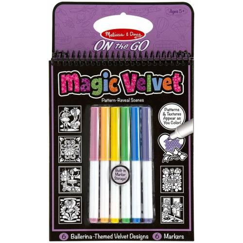 Carnet de colorat Catifeaua magica Fluturi si Flori Melissa and Doug