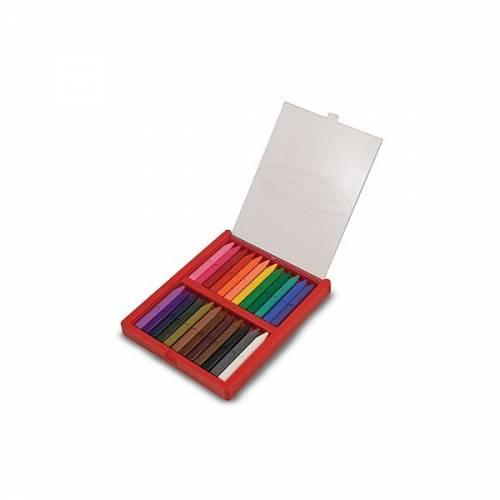 Melissa & Doug - Set 24 creioane colorate triunghiulare