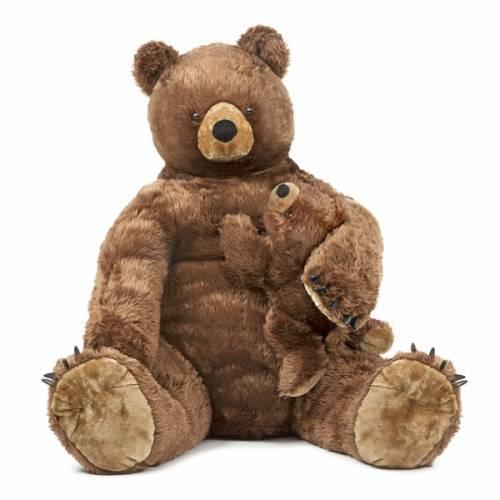 Urs brun cu pui din plus Melissa and Doug