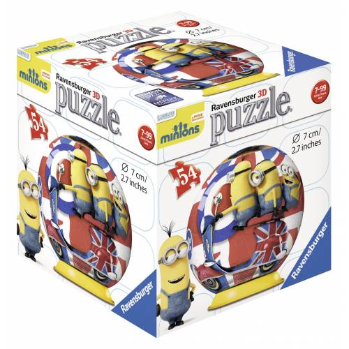 PUZZLE 3D MINIONS, 54 PIESE
