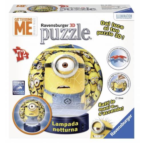 PUZZLE 3D MINIONS CU LUMINA 72, PIESE