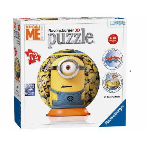 Puzzle 3D Minions 72, Piese