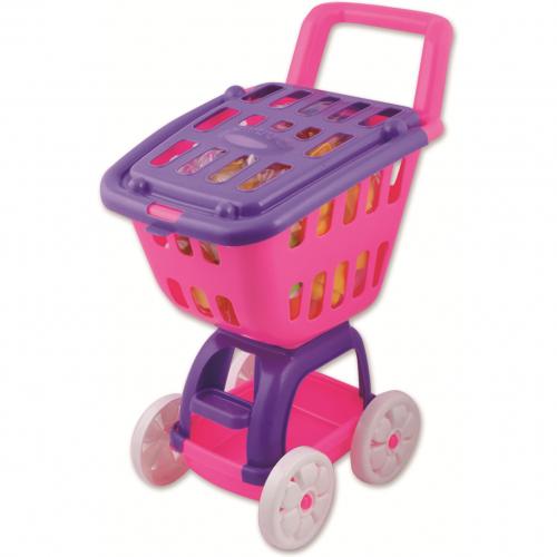 Carucior cumparaturi cu 38 piese de constructie Ucar Toys UC40