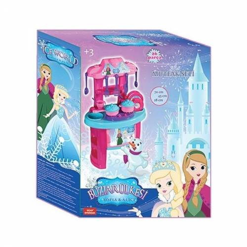 Bucatarie copii 26 piese Ice World Ucar Toys UC120