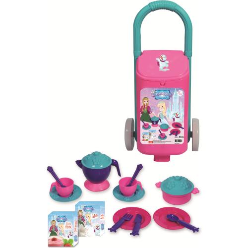Carcucior cu accesorii bucatarie copii 18 piese Princess Maya and Friends Ucar Toys UC152