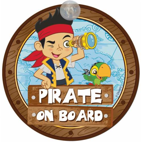 Semn de avertizare Pirate on Board Jake Disney Eurasia 25033