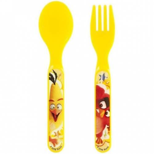 Set lingurita si furculita plastic Angry Birds Lulabi 8161050