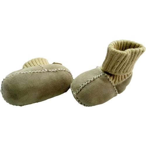 Botosei din piele si blanita de miel cu mansete tricotate -Marime 16 Altabebe MT4031L-01