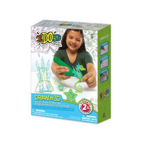 IDO3D - Set 2 Creioane 3D Verde