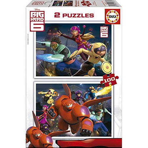 Puzzle Big Hero 6 - 2 x 100 piese