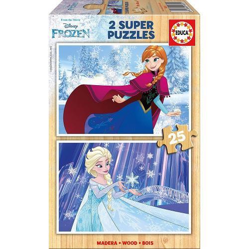 Puzzle din Lemn Frozen 2 x 25 piese