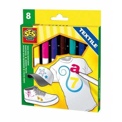 SES Original - Set markere pentru textile (8 buc)