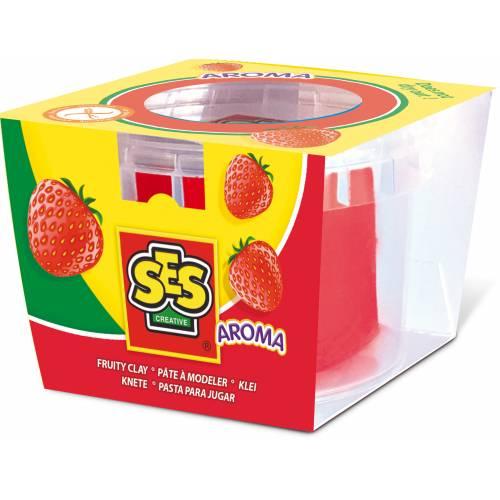 SES Modelaj - Rosu cu miros de capsuni (90g)