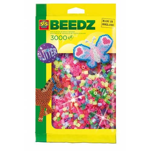 SES Beedz - Set margele asortate - culori luciose (3000 buc)