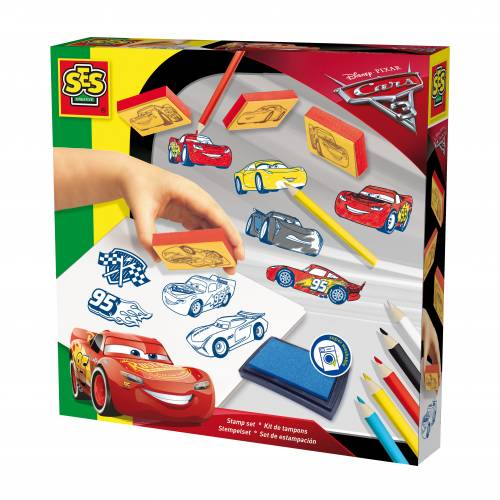 SES Junior - Set stampile - Disney Cars 3 (11 buc)