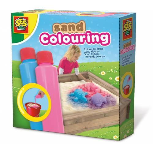 SES Outdoor - Set solutie pentru colorat nisipul (albastru, roz)