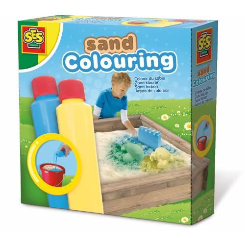 SES Outdoor - Set solutie pentru colorat nisipul (albastru, galben)