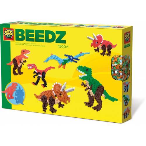 SES Beedz - Set margele - Dinozauri (1500 buc)