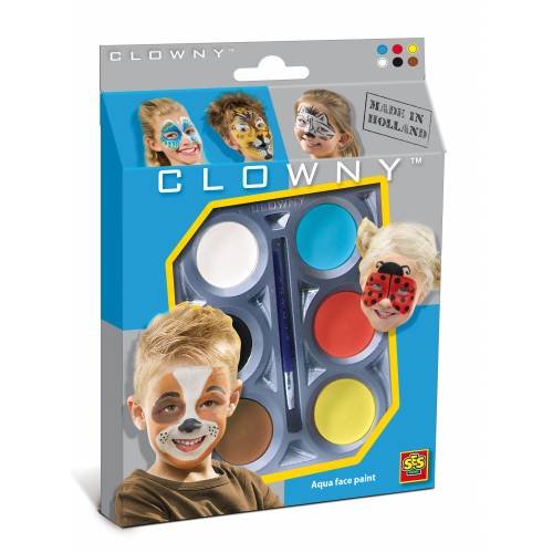 SES Clowny - Set pictura pe fata (6 vopsele) - Animale