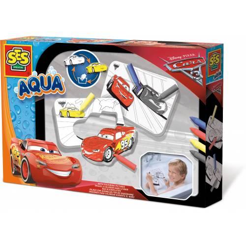 SES Aqua - Set de colorat pentru baie - Disney Cars 3