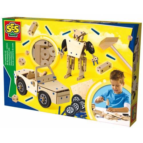 SES Hobby baieti - Set de constructie din lemn - diverse modele