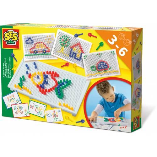 SES Prescolari - Set creativ mozaic cu pioni fantezie