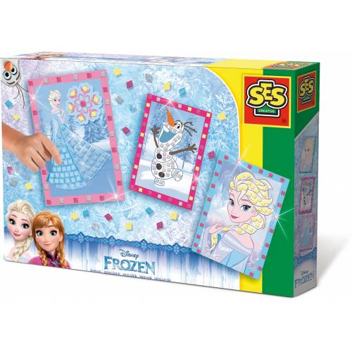 SES Junior - Set creativ mozaic cu spuma - Disney Frozen