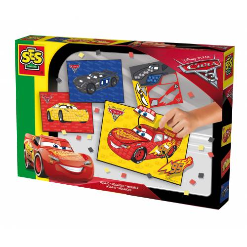 SES Junior - Set creativ mozaic cu spuma - Disney Cars 3