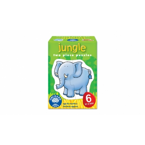 Set 6 puzzle - Animale salbatice (2 piese) - orchard toys