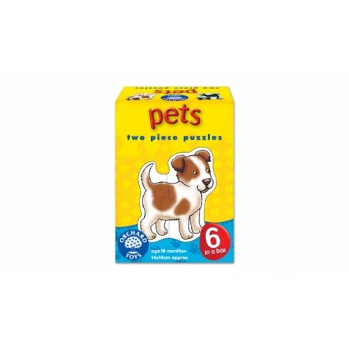 Set 6 puzzle - Animale de companie (2 piese) - orchard toys