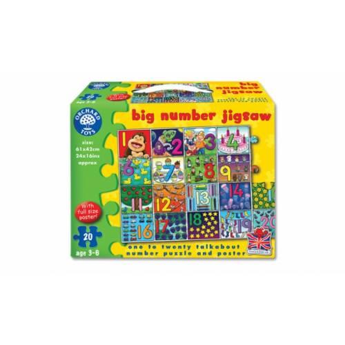 Puzzle gigant de podea - Invata numerele de la 1 la 20 - Orchard Toys