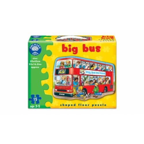 Puzzle de podea - Autobuz (15 piese) - Orchard Toys