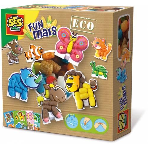 SES ECO - Set creativ cu pufuleti modelatori - Lumea animalelor (400 buc)