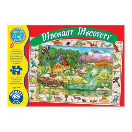 Puzzle cu activitati - Lumea dinozaurilor (150 piese) - Orchard Toys (272)