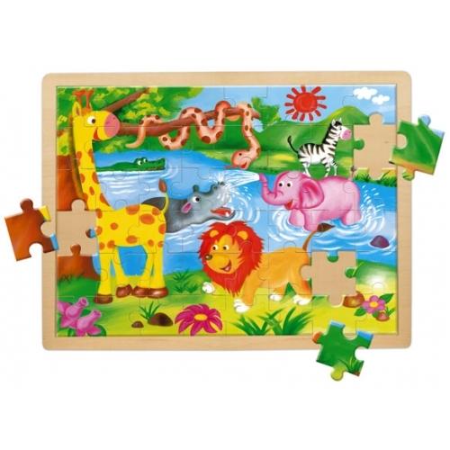 Puzzle animale salbatice 48 piese Mertens - Bino-Mertens