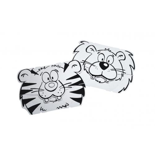 Set masti animate - Leu & Tigru - Calafant
