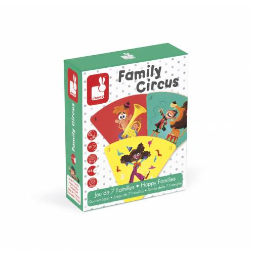 Joc de carti - Familii fericite - La circ - Janod