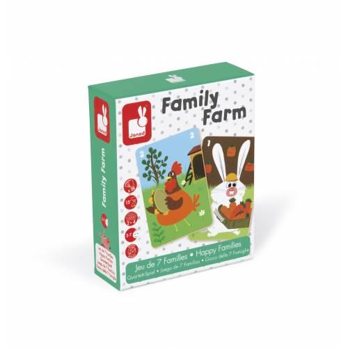 Joc de carti - Familii fericite - La ferma - Janod