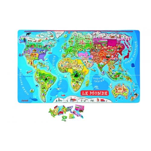 Harta magnetica a lumii (Lb. franceza) - Janod (J05500)