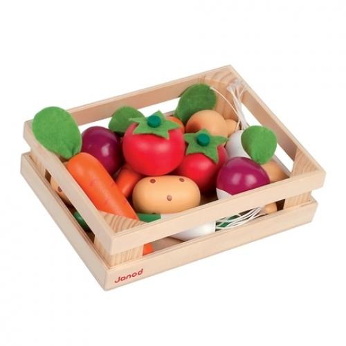 La piata - Cutie cu 12 legume - Janod (J02850)