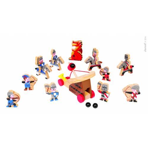 Set figurine din lemn - soldati si cavaleri - Janod (J06482)