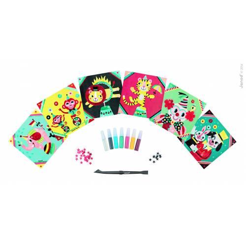 Set creativ Janod - Pictura cu sclipici - La circ - Janod (J07758)