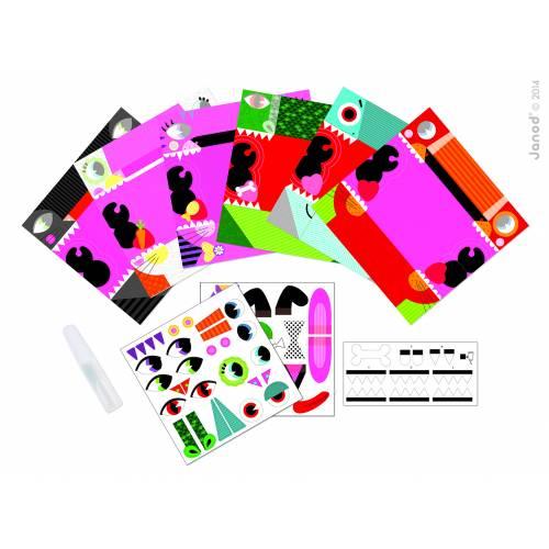 Set creativ Janod - Papusi de mana origami - Animalute - Janod (J07759)